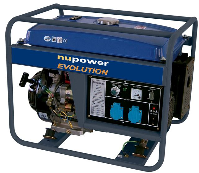 Npegg6000pl generator pr du nupower 6 0kw for Generatore nutool